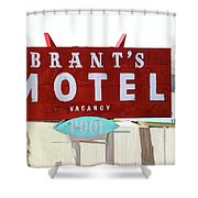 Brants Motel Sign Barstow Shower Curtain