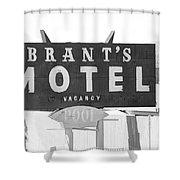 Brants Motel Signage Shower Curtain