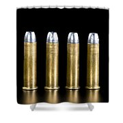 Brass And Lead Bullets. Shower Curtain