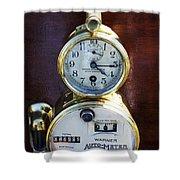 Brass Auto-meter Speedometer Shower Curtain