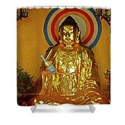 Brass Buddha Emei Shower Curtain
