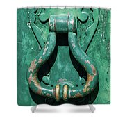 Brass Door Handle Shower Curtain