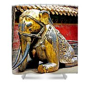 Brass Elephant Shower Curtain