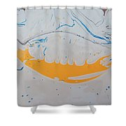 Brass Knockle Smile On A Fat Pig Shower Curtain