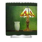Brass Lampshade Shower Curtain