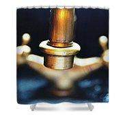 Brass Water Shower Curtain