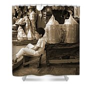 Brassed Off. Shower Curtain
