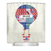 Brave Balloon- Art By Linda Woods Shower Curtain