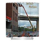 Brave Bold Buffalo Shower Curtain