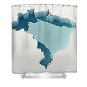 Brazil Simple Intrusion Map 3d Render Shower Curtain