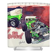 Brazilian Hot Rod V8 Shower Curtain