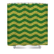 Brazilian Paving Pattern In Brazilian Colours. Shower Curtain