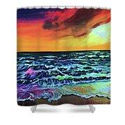 Brazilian Sunset Shower Curtain