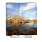 Brazos Bend Winter Bliss Shower Curtain