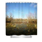Brazos Bend Winter Wetland Shower Curtain