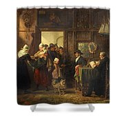 Bread And Alms Shower Curtain