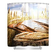 Bread And Wheat Cereal Crops Shower Curtain