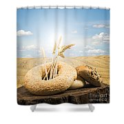 Bread And Wheat Ears. Shower Curtain by Deyan Georgiev