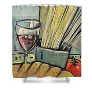 Bread Pasta Wine Shower Curtain