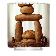 Bread Tower Shower Curtain