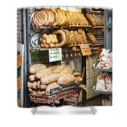 Breads For Sale Shower Curtain