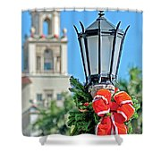 Breakers At Christmas Shower Curtain
