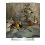Breakfast Aristocrat Shower Curtain