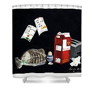 Breakfast At Six O'clock Shower Curtain