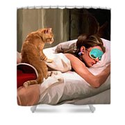 Breakfast At Tiffany's 4 Shower Curtain