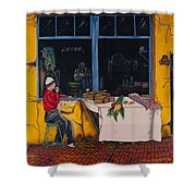 Breakfast In Capri Shower Curtain