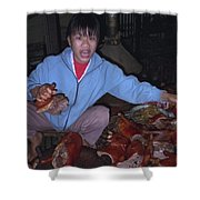 Breakfast In China Shower Curtain