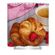 Breakfast With Croissants Shower Curtain