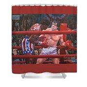 Breakin' Ribs - Rocky Shower Curtain
