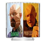 Breaking Bad Polygons - 496 Shower Curtain