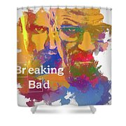 Breaking Bad Watercolor Shower Curtain