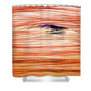 Breaking Swell Three  Shower Curtain