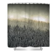 Breaking Through The Darkness Shower Curtain
