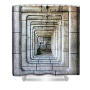 Breaking Through The Forth Wall Shower Curtain