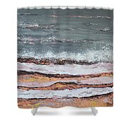 Breaking Waves #3 Shower Curtain