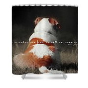 Breaktime Quote Shower Curtain