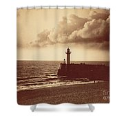 Breakwater At Sete Shower Curtain