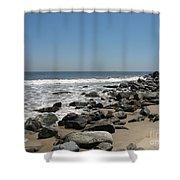 Breakwaters Shower Curtain