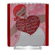 Breast Cancer Goddess Shower Curtain