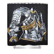 Breast Plate Shower Curtain