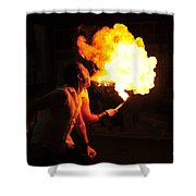 Breath Of Fire Shower Curtain