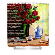 Breath Of Rose Shower Curtain