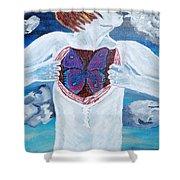 Breathe Deep Shower Curtain by Lisa Brandel