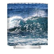 Breathe Like Water Kashmir Blue Sapphire Shower Curtain