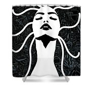 Breathe Out Shower Curtain