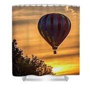 Breathtaking Hot Air Shower Curtain